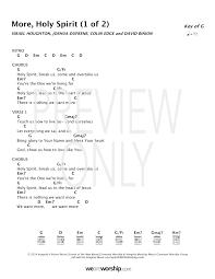 Heart Of Worship Chord Chart More Holy Spirit Lead Sheet Lyrics Chords Covenant