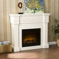 calvert carved electric fireplace ivory loading zoom