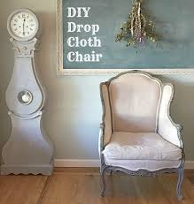cloth chairs furniture. DIY Drop Cloth Chair Chairs Furniture D