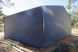 colorbond corrugated iron on container shed diy construction