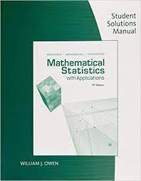 Amazon Com Student Solution Manual For Mathematical Statistics With Application 9780495385066 William J Owen Books