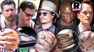 celebrity men painted nails johnny depp rus brand