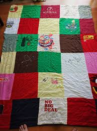picture of t shirt quilt easy method