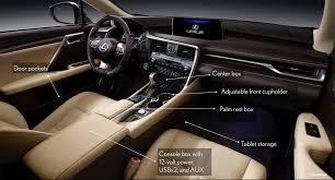 lexus rx interior storage