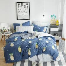 100 cotton fruit printing bedding set twin queen king size duvet cover bed fit sheet set pillowcase soft bedclothes toddler bedding sets duvet insert from