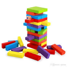 Games With Wooden Blocks Amazing High Quality Wood Building Figure Blocks Domino Stacked Extract