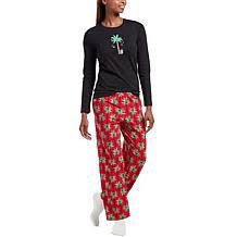 Hue 2pc Whimsical Print Pajama Set With Socks Plus