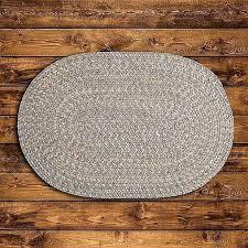 round gray braided rug colonial mills tweed wool blend country home s round gray braided rug