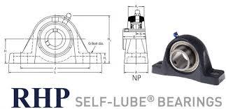 Np16 Rhp 2 Bolt Cast Iron Pillow Block Bearing 16mm Bore 2