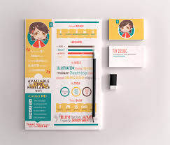 Graphic Resume Free Infographic Resume Template For Graphic Designers Illustrators