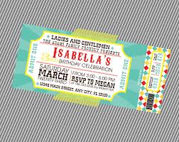 Ticket Invitation Circus Ticket Invitation Invite 1