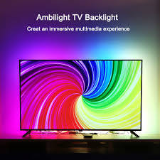 Ambient Light Behind Tv Details About Ambilight Tv Kit Led Tv Backlights Ambient Light Hdmi Sources For 40 80 Inch Tv