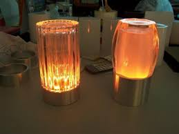 cordless table lamps glass
