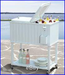 metal ice chest outdoor rolling patio
