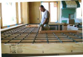 how to form concrete countertops pour in place concrete countertop good home depot countertops