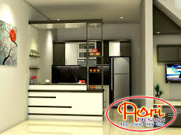 kitchen set minimalis murah di solo contoh desain kitchen set dan mini bar 3d