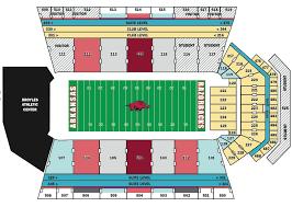 Razorback Football Stadium Seating Chart University Of Arkansas Football Stadium Seating Chart
