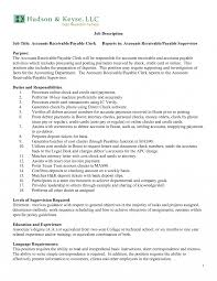 Accounting Clerk Sample Job Description Templates Collection Of