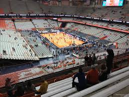 Carrier Dome Basketball Seating Chart Rows Carrier Dome Section 318 Syracuse Basketball