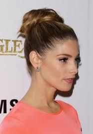 ashley greene topknot bun hairstyles