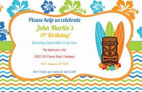 Hawaiian Pool Party Invitations Boys Birthday Tiki Luau Pool Party Invitation Etsy