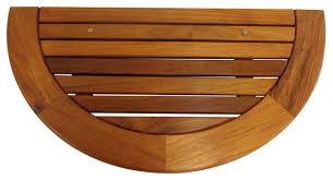 half round teak wood table top tung oil finished 36 wx17 5