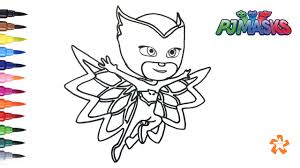 Pj Masks How To Color Owlette Coloring Pages For Children With