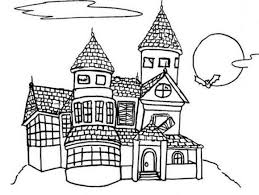 Small Picture Free Coloring Haunted House Haunted House Halloween Free Color