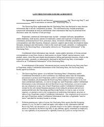 confidentiality agreement template sample employment confidentiality agreement 9 documents in pdf