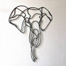elephant wall art roselawnlutheran for most up to date wire wall art decors gallery