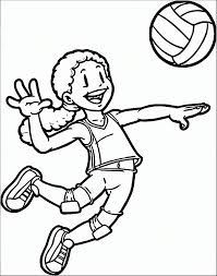 In coloringcrew.com find hundreds of coloring pages of volleyball and online coloring pages for free. A Volleyball Player Coloring Page Free Printable Coloring Pages For Kids