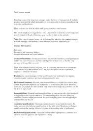 What To Put On A Resume For Retail Retail Store Manager Resume
