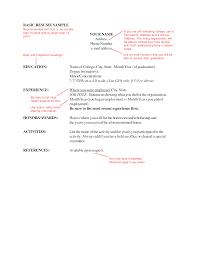Resume Font Size Format Font Size For Resume Resume Template