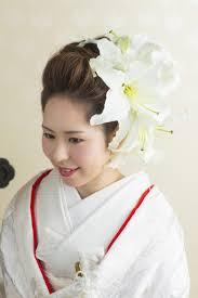 洋髪に生花スタイル 京都e結婚式ブログ 京都での結婚式 花嫁 髪型