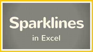 Excel Mini Charts Excel Tutorial On How To Use Sparklines In Excel These Mini