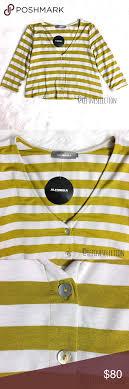 Alembika Size Chart Alembika Honey Stripe Button Up Cardigan Brand New With Tags