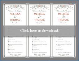 Wedding Ceremony Brochure Wedding Reception Program Lovetoknow