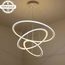 Us 3892 9 Offvintagelll Wohn Esszimmer Led Lustre Anhänger Lampe Moderne Dekorative 3 Kreis Ringe Led Anhänger Lichter Für Hängen Decke In