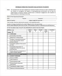 teacher feedback form 19 student feedback forms in pdf
