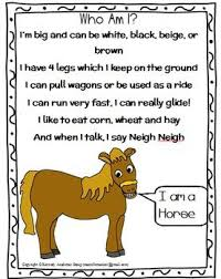 Small Picture FARM ANIMALS Riddles POEMS FREEBIE Great for Language activities