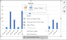 Removing Gaps Between Bars In An Excel Chart