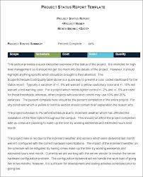 Sample Weekly Status Report Template 8 Weekly Status Report Examples Pdf Examples