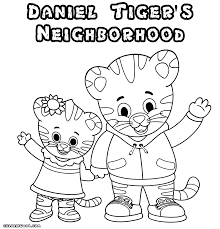 Small Picture Daniel Tiger Coloring Pages Printable Daniel Tiger Coloring Page