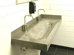 undermount trough bathroom sink with two faucets metal material sinks nice farmhouse concept double faucet minimalist