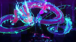 K/DA Akali Neon Dragon POP/STARS League ...