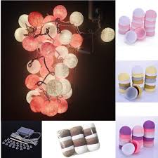 Decorative String Balls Gorgeous Cotton Ball Decorative String Light Thai Handmade High Quality