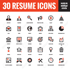 Free Resume Icons 24 Resume Creative Vector Icons Based On Modular System Set 10