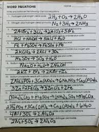 chemistry balancing chemical equations worksheet together with balancing chemical equations worksheet 1 chemistry answer