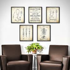 doctor office decor. DOCTOR Gift - Set OF 5 Doctors Office Decor Medical Patent Print Art For Student Nurse Gifts Wall 1872 Doctor E