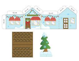 Christmas House Template Free Printable Paper Christmas House Free Christmas
